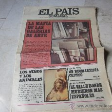Coleccionismo de Periódico El País: EL PAIS SEMANAL AÑO º Nº 27 - 3 ABRIL 1977. Lote 26516331