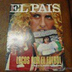 Coleccionismo de Periódico El País: EL PAIS SEMANAL Nº 210- 2/1995 LOCOS POR EL FUTBOL ENTREV.JOHAN CRUYFF,AGUILA IMPERIAL, MODA. Lote 27721336