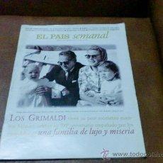 Coleccionismo de Periódico El País: REV EL PAIS SEMANAL 11/1996 LOS GRIMALDI -MONACO-AMPL RPTJE.ARTURO PEREZ-R.,KABUL,MODA HOMBRE. Lote 28393311