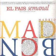 Coleccionismo de Periódico El País: EPS - EL PAÍS SEMANAL - MADRID - BARCELONA - Nº 1022, 28 DE ABRIL DE 1996. Lote 284128323