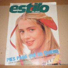Coleccionismo de Periódico El País: SUPLEMENTO ESTILO EL PAIS , 9 DE ABRIL 1989 . NUMERO 25 . . Lote 29492073