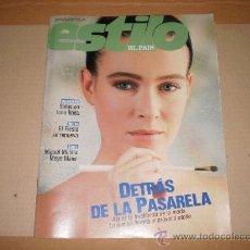 Coleccionismo de Periódico El País: SUPLEMENTO ESTILO EL PAIS , 26 DE MARZO 1989 . NUMERO 23 . . Lote 29492133