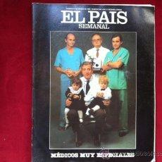 Coleccionismo de Periódico El País: EL PAIS SEMANAL Nº 465 . 9 MARZO 1986 . MEDICOS, HAWAI . ANTONIO RESINES . GUERRA DE ESPAÑA Nº 2. Lote 30096186
