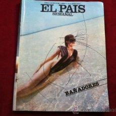 Coleccionismo de Periódico El País: EL PAIS SEMANAL Nº 478 . 8 JUNIO 1986 . ENRIQUE LOEWE . MONET EN MADRID . STEVIE WONDER . . Lote 30097056