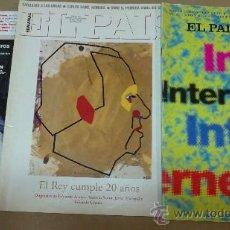 Coleccionismo de Periódico El País: &SUPLEMENTO(DOMINICAL)EL PAIS.TRES DISTINTOS. Lote 30235308