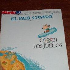 Coleccionismo de Periódico El País: EL PAÍS SEMANAL - COBI SE VA LOS JUEGOS.. Lote 30603053