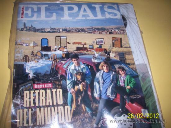 SUPLEMENTO EL PAIS Nº186 RETRATO DEL MUNDO (Coleccionismo - Revistas y Periódicos Modernos (a partir de 1.940) - Periódico El Páis)