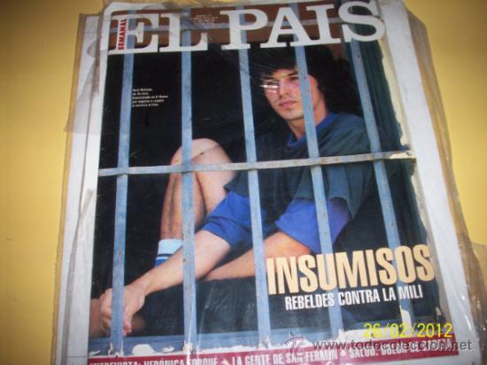 SUPLEMENTO EL PAIS 177 INSUMISOS (Coleccionismo - Revistas y Periódicos Modernos (a partir de 1.940) - Periódico El Páis)