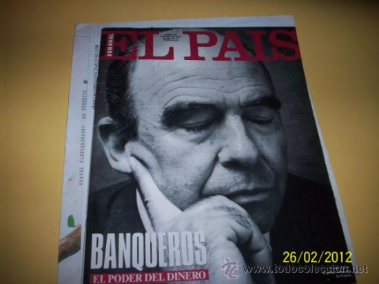 SUPLEMENTO EL PAIS 169 BANQUEROS (Coleccionismo - Revistas y Periódicos Modernos (a partir de 1.940) - Periódico El Páis)