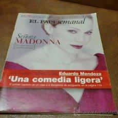 Coleccionismo de Periódico El País: REV. EL PAIS SEMANAL 11/96 MADONNA AMPL. RPTJE.HERNANI, JAZZ, MODA, EXTRA ESQUI,GASTRONOMIA. Lote 48155944