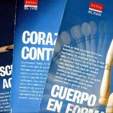 Coleccionismo de Periódico El País: ESPECIAL EL PAIS (LOS TRES) - CUERPO EN FORMA / CORAZÓN CONTENTO / MÚSCULOS EN ACCIÓN - SALUD. Lote 32961543
