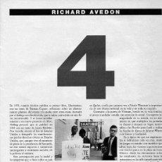 Coleccionismo de Periódico El País: COLECCIONABLE - EL PAIS - RICHARD AVEDON - FOTOGRAFÍA -. Lote 36360226