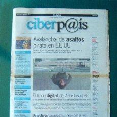 Coleccionismo de Periódico El País: CIBERP@IS - SUPLEMENTO DE INFORMATICA DEL DIARIO EL PAIS - Nº 1 - ILUSTRADO EN B/N Y COLOR - 1998. Lote 34702919
