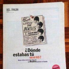 Collectionnisme de Journal El País: EL PAÍS TENTACIONES Nº 60 - 1994 - LOS BEATLES EN ESPAÑA. Lote 35117867