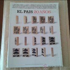Coleccionismo de Periódico El País: EL PAIS 20 AÑOS. Lote 36539016