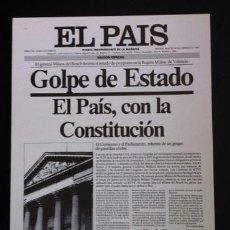 Coleccionismo de Periódico El País: EL PAÍS - LÁMINA FACSÍMIL - GOLPE DE ESTADO - 24 DE FEBRERO DE 1981. Lote 38655807