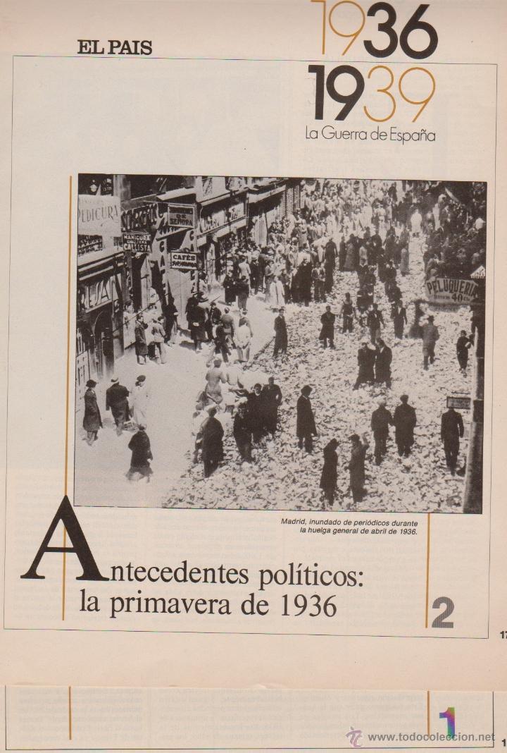 GUERRA ESPAÑOLA DE 1936 A 1939 SUPLEMENTOS DEL PAIS (Coleccionismo - Revistas y Periódicos Modernos (a partir de 1.940) - Periódico El Páis)