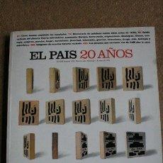 Coleccionismo de Periódico El País: REVISTA. EL PAÍS SEMANAL. 20 AÑOS. NÚMERO EXTRA. 5 DE MAYO DE 1996.. Lote 40524469