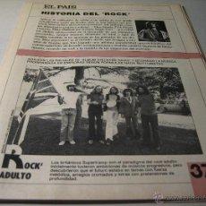 Coleccionismo de Periódico El País: EL PAIS.- HISTORIA DEL ROCK.- FASCICULO 37.- ROCK ADULTO. Lote 42695252