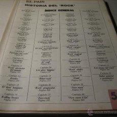 Coleccionismo de Periódico El País: EL PAIS.- HISTORIA DEL ROCK.- FASCICULO 52.- INDICE GENERAL. Lote 42695395