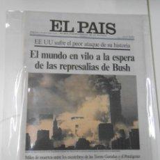 Coleccionismo de Periódico El País: PERIODICO EL PAIS 12 / 11 DE SEPTIEMBRE DE 2001 11S. EL MUNDO EN VILO. EEUU SUFRE EL PEOR... TDKPR1. Lote 44392714