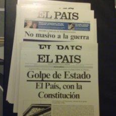 Coleccionismo de Periódico El País: EL PAÍS. COLECCIÓN DE 28 PORTADAS EN CARTULINA (28 X 39 CM). Lote 44622583