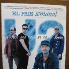 Coleccionismo de Periódico El País: U2. EL ROCK AND ROLL YA NO ES JOVEN. 9 PÁGINAS DEL PAIS SEMANAL , 23 DE FEBRERO DE 1997.. Lote 46131716