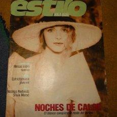 Coleccionismo de Periódico El País: REVISTA EL PAIS ESTILO AÑO 2 NUMERO 42 DOMINGO 6 DE AGOSTO DE 1989 - NOCHES DE CALOR. Lote 183473650