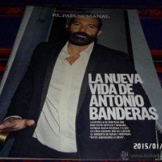 Coleccionismo de Periódico El País: EL PAÍS SEMANAL Nº 1998. 11-1-15. ANTONIO BANDERAS GUSANO ELEGANS JUAN JOSÉ MILLÁS IBÁÑEZ MORTADELO. Lote 47428601