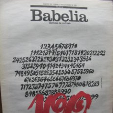 Coleccionismo de Periódico El País: BABELIA. REVISTA DE CULTURA DEL PAÍS. NÚMERO 100. 11 SEP 1993. (PRINCE, UN CHICO DE MINNEÁPOLIS).. Lote 48412274