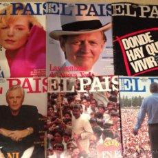 Coleccionismo de Periódico El País: EL PAÍS SEMANAL - LOTE NÚMS, 7-8-9-12-16-17 - ABRIL MAYO JUNIO 1991. Lote 48437310