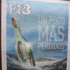 Coleccionismo de Periódico El País: EP3. ELPAIS3. HIDROGENESSE. BILBAOBBKLIVE (THE POLICE, R.E.M. LENNY KRAVITZ,). 18 DE ABRIL DE 2008.. Lote 48528224