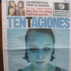 Coleccionismo de Periódico El País: EL PAIS DE LAS TENTACIONES NRO. 527. 28.11.2003. SAMANTHA MORTON, DANIEL GUZMAN, ETC. COMPLETO.. Lote 48896095