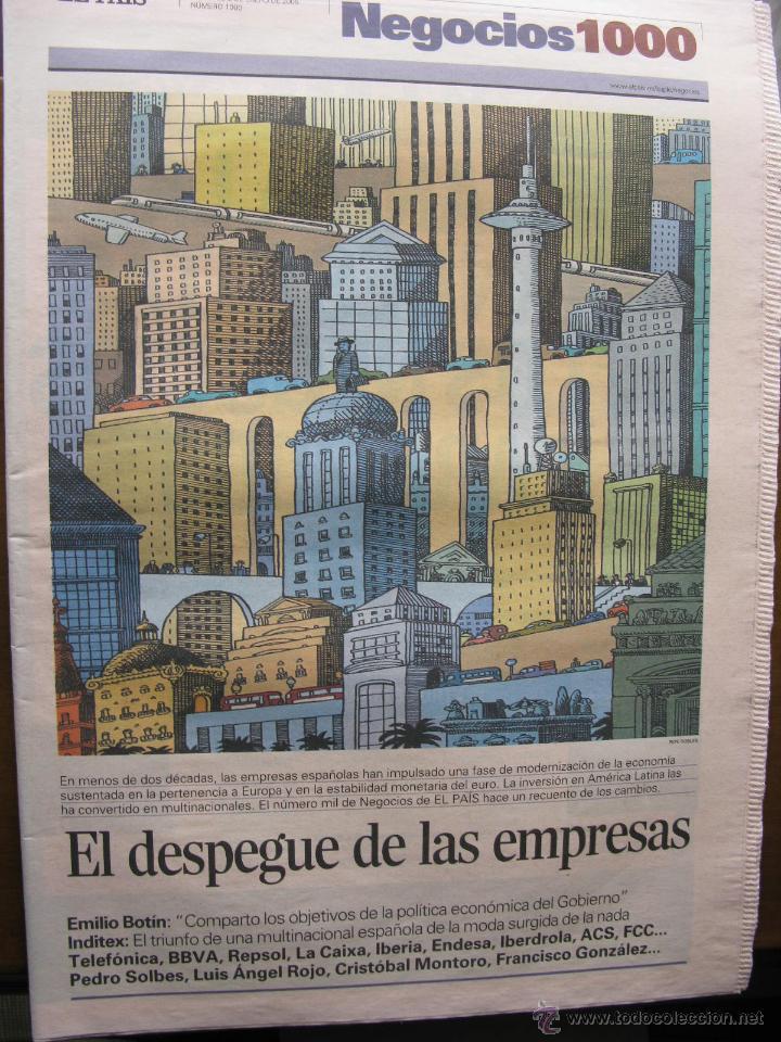 EL PAIS. NEGOCIOS. NÚMERO 1000. 2 DE ENERO DE 2005. EL DESPEGUE DE LAS EMPRESAS. (Coleccionismo - Revistas y Periódicos Modernos (a partir de 1.940) - Periódico El Páis)