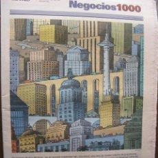 Coleccionismo de Periódico El País: EL PAIS. NEGOCIOS. NÚMERO 1000. 2 DE ENERO DE 2005. EL DESPEGUE DE LAS EMPRESAS.. Lote 48898147