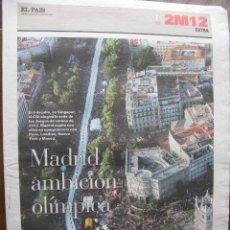 Coleccionismo de Periódico El País: EL PAIS. 2M12 EXTRA. MADRID AMBICIÓN OLÍMPICA. 29 DE JUNIO DE 2005.. Lote 48898314