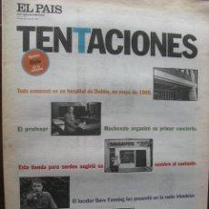 Coleccionismo de Periódico El País: EL PAIS. TENTACIONES. EL TERREMOTO U2 SACUDE MADRID Y BARCELONA. 29 AGOSTO 1997. COMPLETO.. Lote 48975644