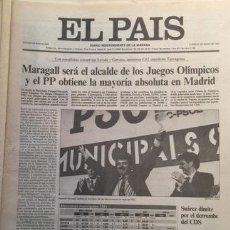 Coleccionismo de Periódico El País: EL PAIS, 27 DE MAYO DE 1991, ELECCIONES MUNICIPALES. Lote 49169670