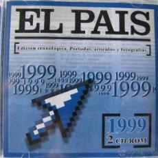 Coleccionismo de Periódico El País: EL PAÍS. EDICIÓN CRONOLÓGICA. PORTADAS, ARTÍCULOS Y FOTOGRAFÍAS. 1999. 2 CD-ROM. Lote 49760315
