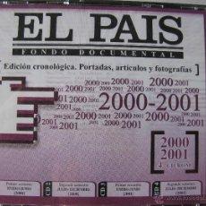 Coleccionismo de Periódico El País: EL PAÍS. FONDO DOCUMENTAL. ED. CRONOLÓGICA. PORTADAS, ARTÍCULOS Y FOTOGRAFÍAS. 2000/2001. 4 CD-ROM. Lote 49760351