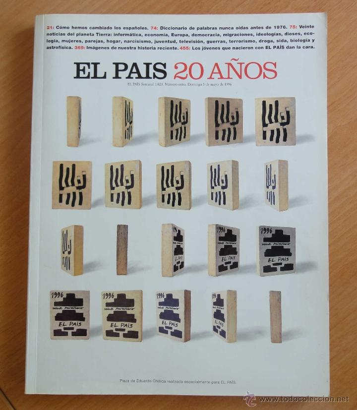 REVISTA SEMANAL EL PAIS. CONMEMORATIVA 20 AÑOS. 1976 - 1996 (Coleccionismo - Revistas y Periódicos Modernos (a partir de 1.940) - Periódico El Páis)