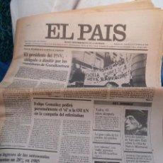Coleccionismo de Periódico El País: DALI -ARTICULO -INEDITO SOBRE NARCIS MONTURIOL-EL PAIS-1985. Lote 51017757