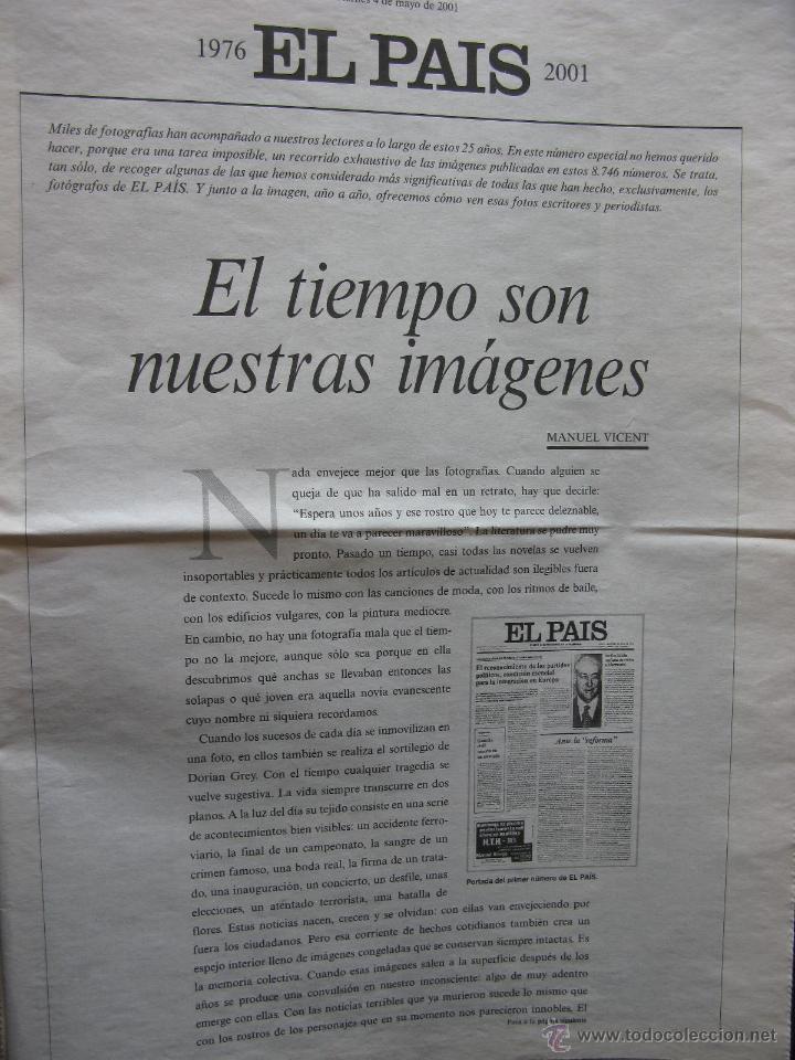 IMÁGENES 1976-2001. MANUEL VICENT. ADOLFO SUAREZ, RODRIGO RATO, ANA TORROJA,ETC. VER FOTOGRAFÍAS. (Coleccionismo - Revistas y Periódicos Modernos (a partir de 1.940) - Periódico El Páis)