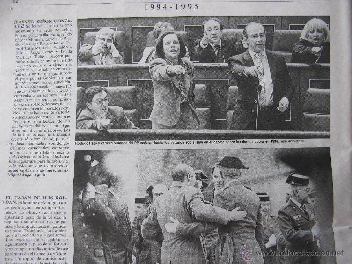 Coleccionismo de Periódico El País: IMÁGENES 1976-2001. MANUEL VICENT. ADOLFO SUAREZ, RODRIGO RATO, ANA TORROJA,ETC. VER FOTOGRAFÍAS. - Foto 4 - 51616683