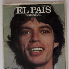 Coleccionismo de Periódico El País: MICK JAGGER, ROLLING STONES - EL PAIS SEMANAL AÑO 1981. Lote 51927608