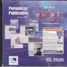 Coleccionismo de Periódico El País: CD-ROM EL PAÍS DE LOS ESTUDIANTES. I EDICIÓN NACIONAL, PERIÓDICOS PUBLICADOS. EDICIÓN 2002. Lote 53477378