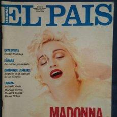 El País Semanal nº 87, 18 oct 1992. Portada Madonna, reportaje de 10 páginas. Sáhara, D. Lapierre...