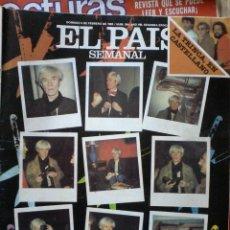 EL PAIS SEMANAL-ANDY WARHOL EN ESPAÑA-FEBRERO 1983