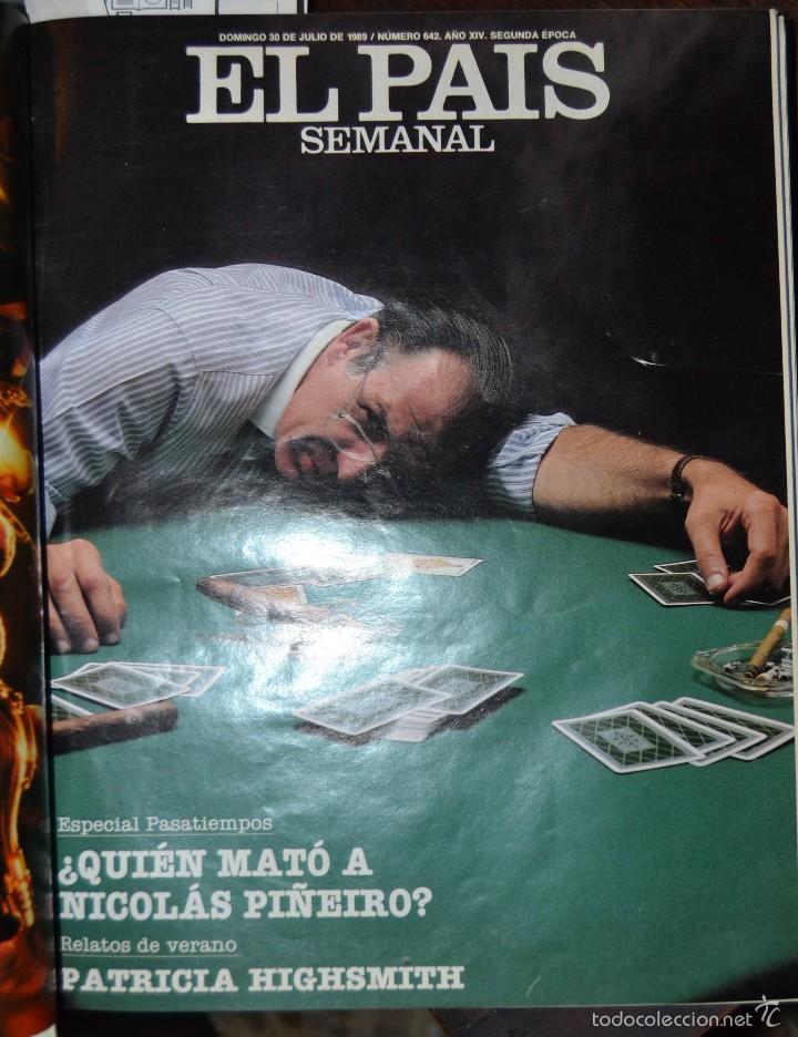 Coleccionismo de Periódico El País: 1 TOMO ENCUADERNADO DOMINICAL DIARIO EL PAIS Nº 638 A 650 AÑO 02-07 A 24-09 DEL AÑO 1989.12 NUMEROS - Foto 12 - 58540575