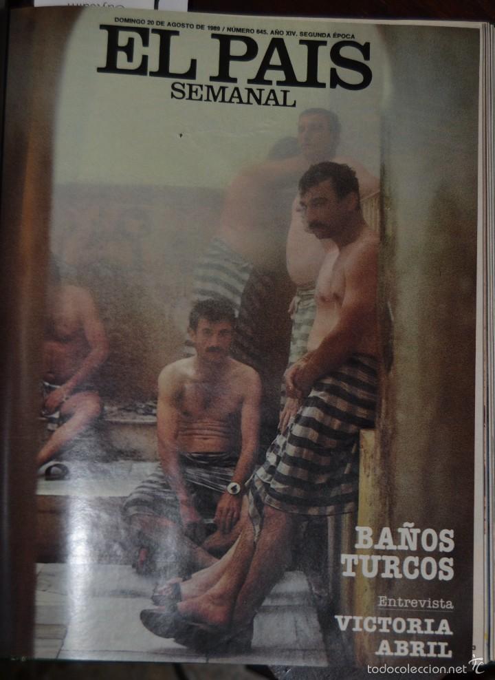 Coleccionismo de Periódico El País: 1 TOMO ENCUADERNADO DOMINICAL DIARIO EL PAIS Nº 638 A 650 AÑO 02-07 A 24-09 DEL AÑO 1989.12 NUMEROS - Foto 17 - 58540575